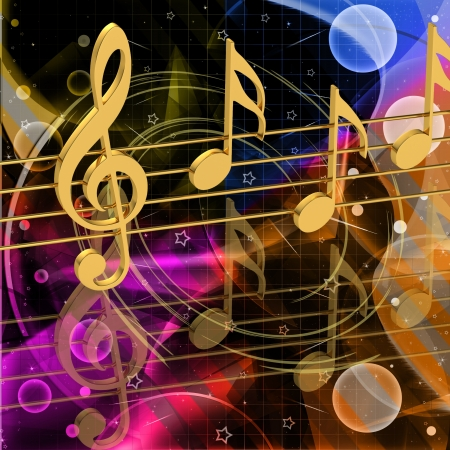 Colores notas musicales photo