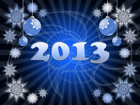 new years resolution: Happy New Year 2013 greeting card