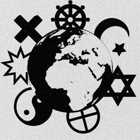 Religious symbols of our planet photo
