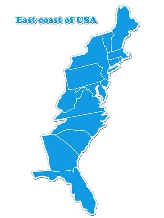 USA kaart van de oostkust
