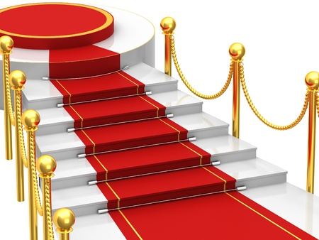Ladders with red carpet photo