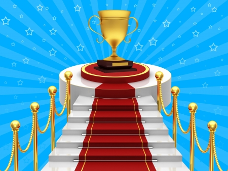 fames: Ladders with red carpet and gold cup