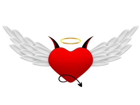 Angel and demon hearts