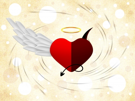 good and evil: Angel and demon hearts