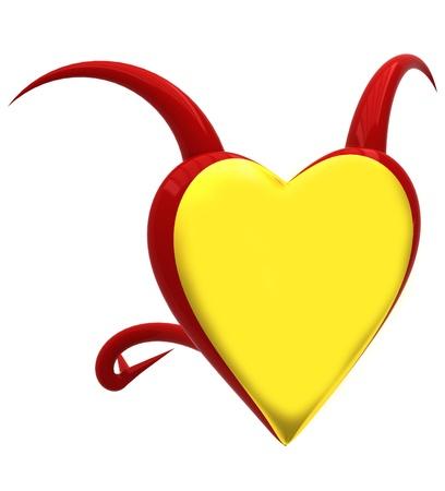Demon heart Stock Photo - 17344321
