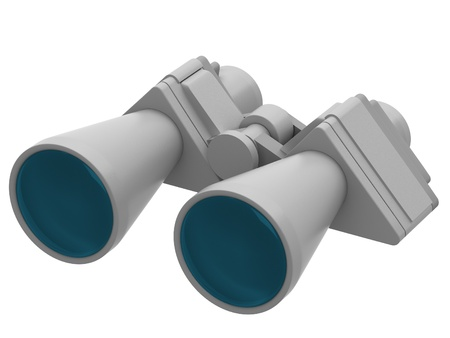 Binoculars isolated over white background Stock Photo - 17344322