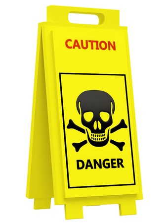 Danger warning sign Stock Photo - 18246408