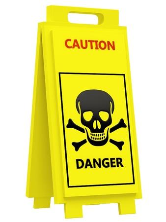 splotchy: Danger warning sign