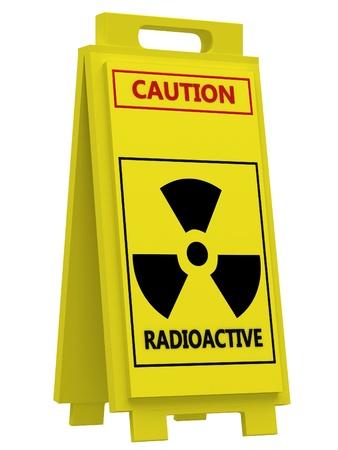radioisotope: Radiation hazard symbol sign Stock Photo