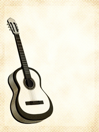 rosewood: Abstract background with a guitar Stock Photo
