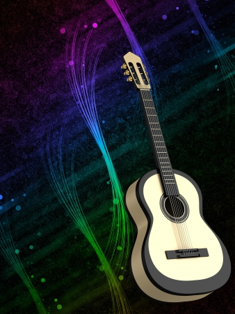 fretboard: Abstract background with a guitar Stock Photo