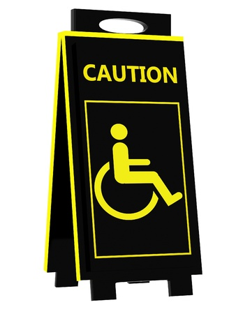 Disabled person warning photo