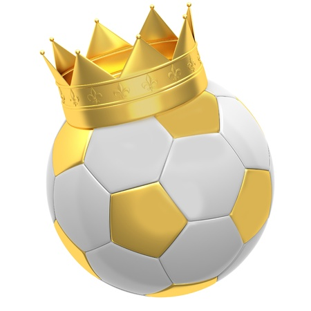 Soccer ball with crown photo