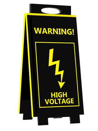 High voltage signboard photo