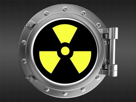 roentgen: Sign of radiation Stock Photo