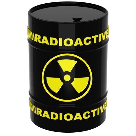 Barrel with radioactive materials photo