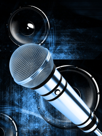 Microphone on abstract background Stock Photo - 18867285