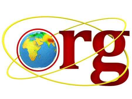 world wide web: ORG Domain Name Address illustration Stock Photo