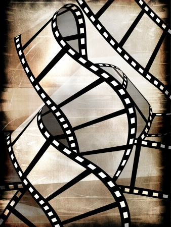 Blank film strip in the grunge style