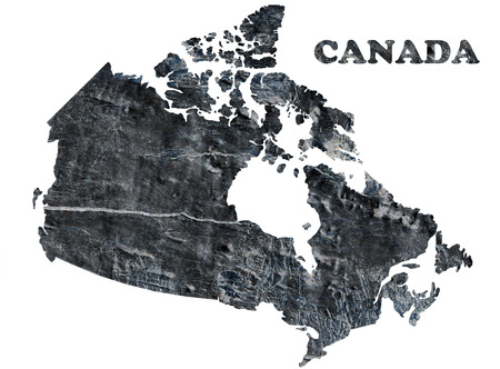 Map of Canada isolated on a white  photo