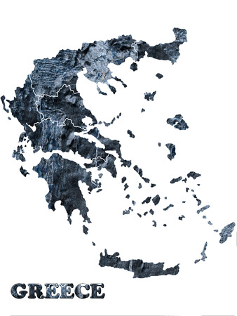 Map of Greece isolated on a white photo