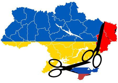 annexation: War in Ukraine Stock Photo