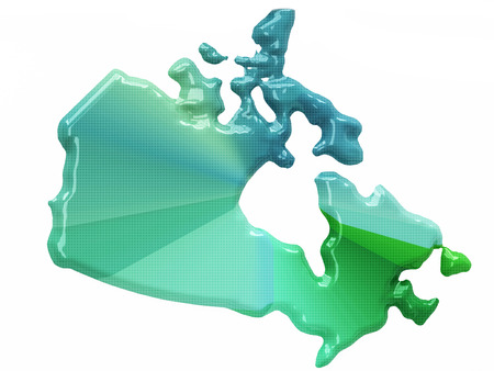 Map of Canada in 3d style photo