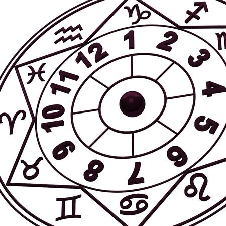 new age: Signos del Zodiaco - Nueva hor�scopo edad Foto de archivo