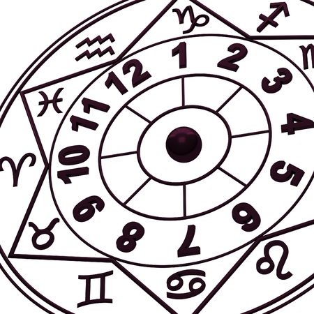 new age: Zodiac Signs - New age horoscope Stock Photo