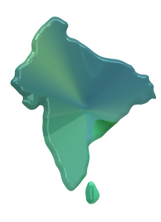 foreign nation: India map on a white background