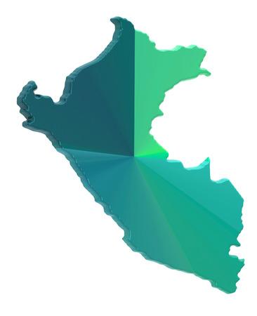 lima province: Peru map on a white background