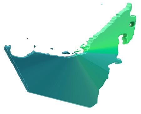 emirates: Map of United Arab Emirates