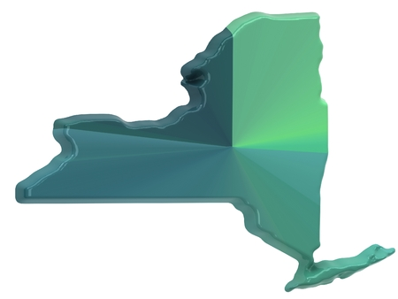 new york state: Map of New York state Stock Photo