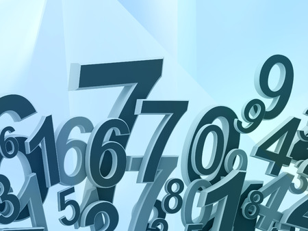 numbers abstract: Numbers composition on abstract background Stock Photo