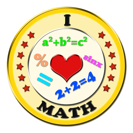 technical university: I Love Math button Stock Photo