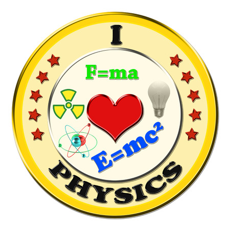 technical university: I Love Physics button