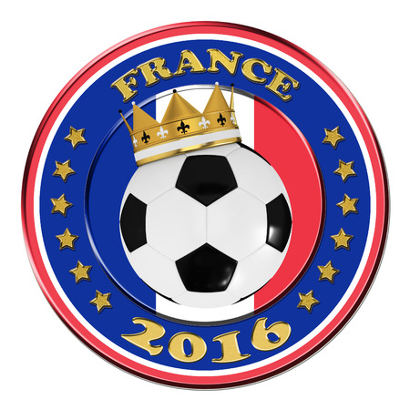 tournament chart: France 2016 Football poster