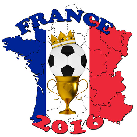 elimination: France 2016 Football poster
