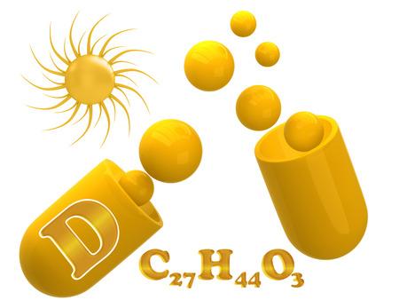 vitamin d: Vitamin D on a white background