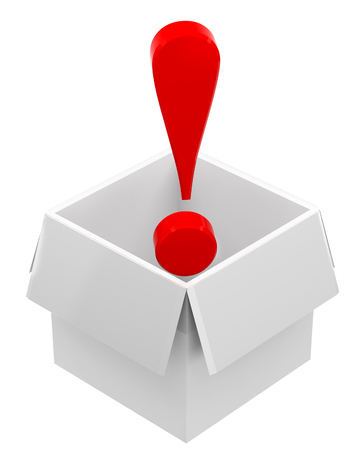 interjection: Red exclamation mark in box
