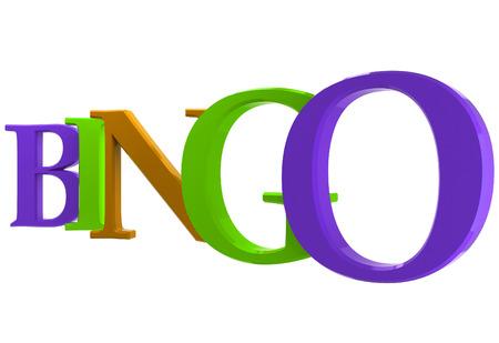 brightly: Brightly coloured inscription bingo