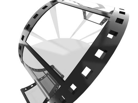 Blank film strip Stok Fotoğraf