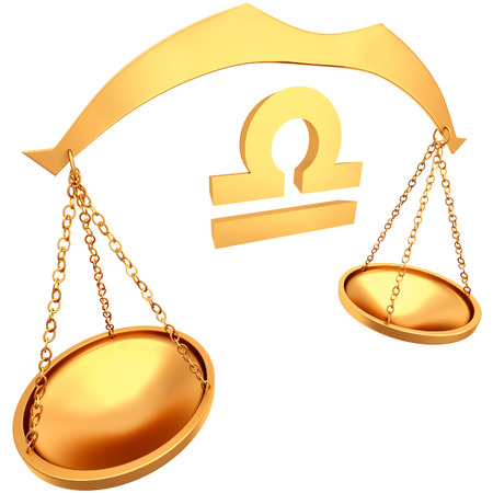 zodiacal symbol: Decorative Zodiac sign Libra isolated on a white background
