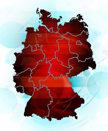 deutschland karte: Deutschland-Karte in abstrakten Stil Lizenzfreie Bilder