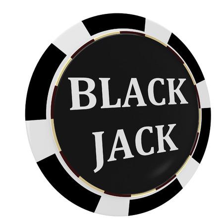 black jack: Casino, black jack chip isolated on a white background