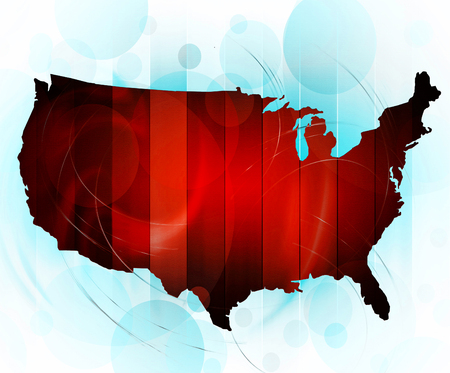 modernity: Map of USA in abstract style