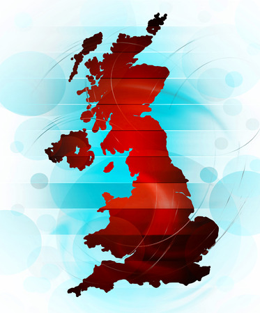 kindom: Map of United Kingdom in abstract style