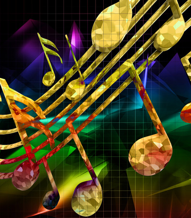 trill: Abstract background with musical notes Stock Photo