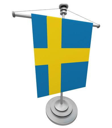 swedish: Swedish Flag isolated on white background