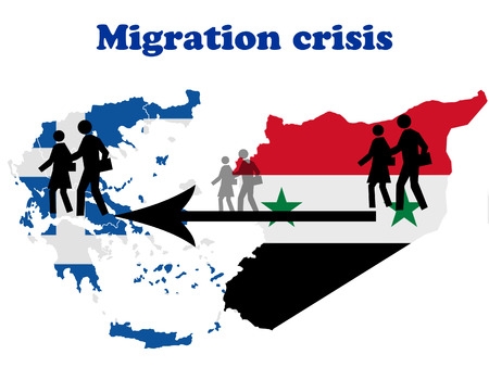 emigration: Migration crisis in Greece Stock Photo